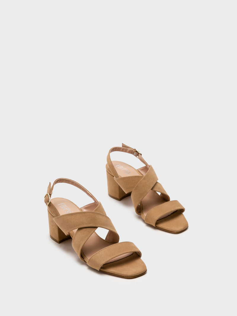 Wheat Crossover Sandals