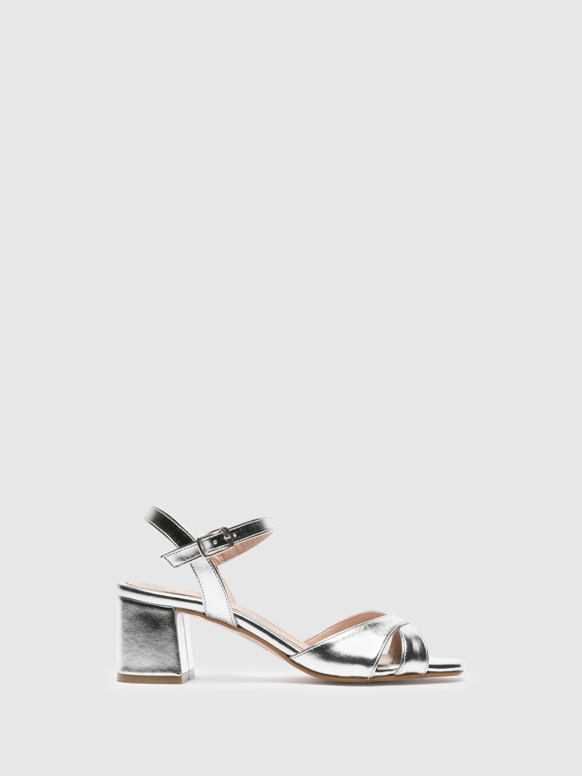 Foreva Silver Ankle Strap Sandals