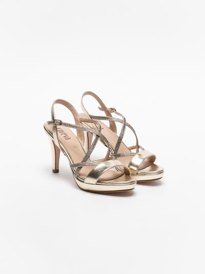 Foreva Gold Strappy Sandals