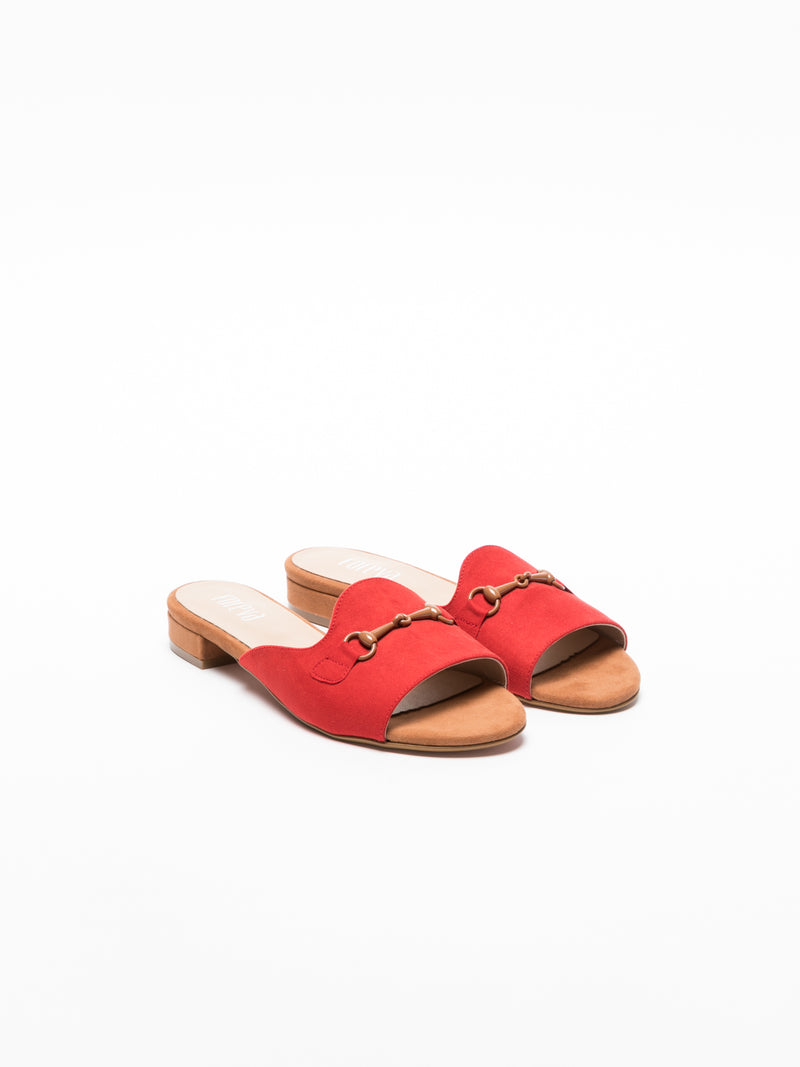 Foreva Red Flat Mules