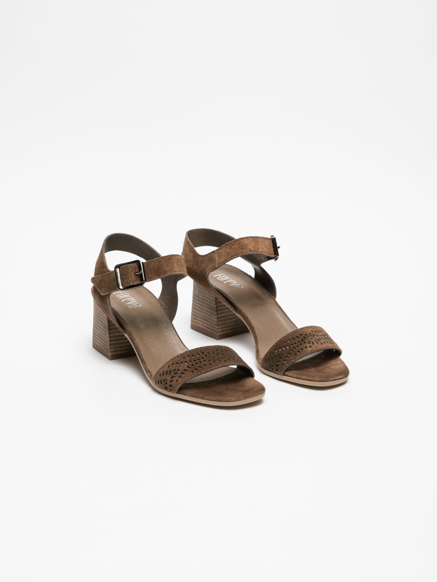 Foreva Brown Buckle Sandals