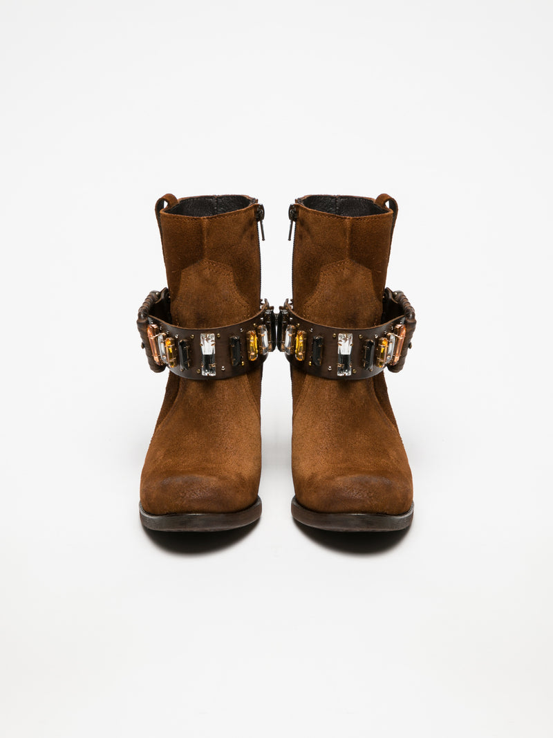 Peru Buckle Ankle Boots