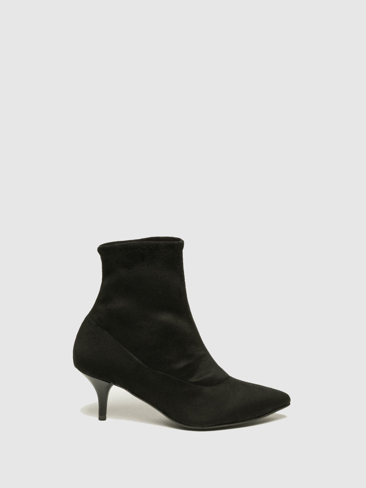 Foreva Black Sock Ankle Boots