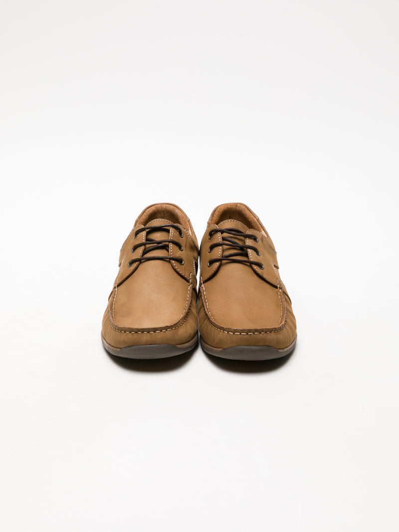 Tan Lace Fastening Shoes