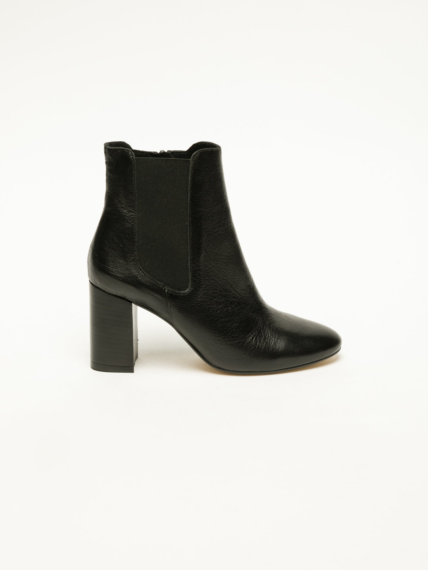 Foreva Black Elasticated Ankle Boots