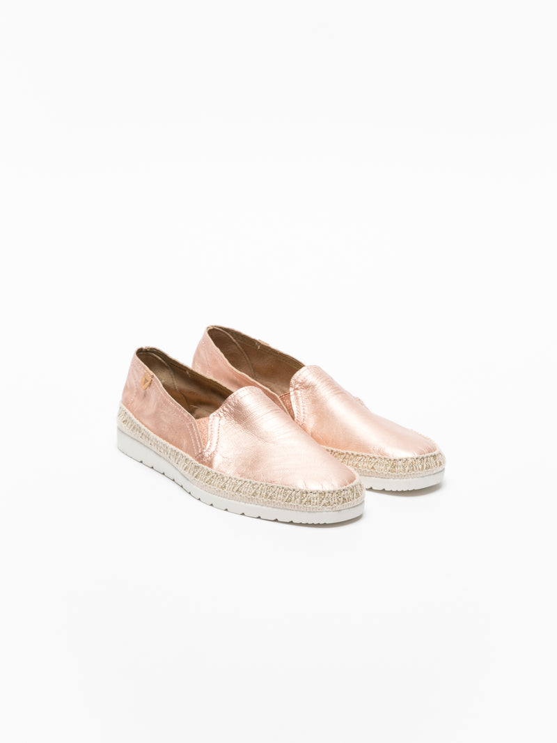 RosyBrown Elasticated Espadrilles