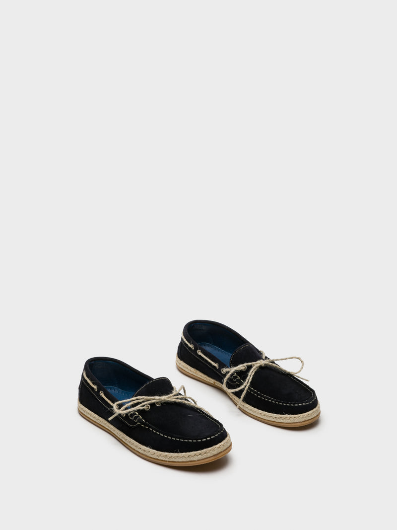 Blue Mocassins Shoes