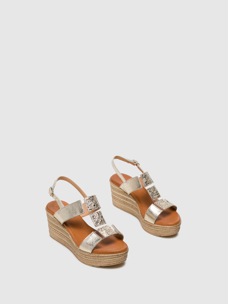 Foreva Gold Wedge Sandals