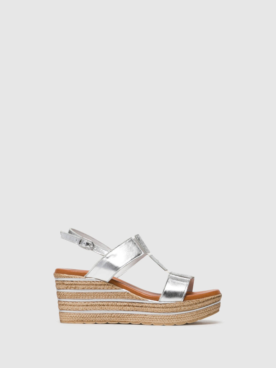 Foreva Silver T-Strap Sandals
