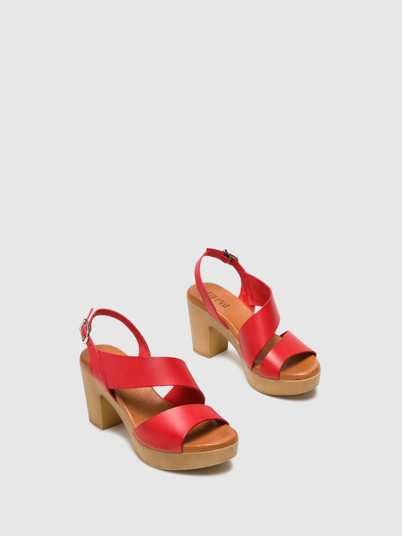 Foreva Red Buckle Sandals