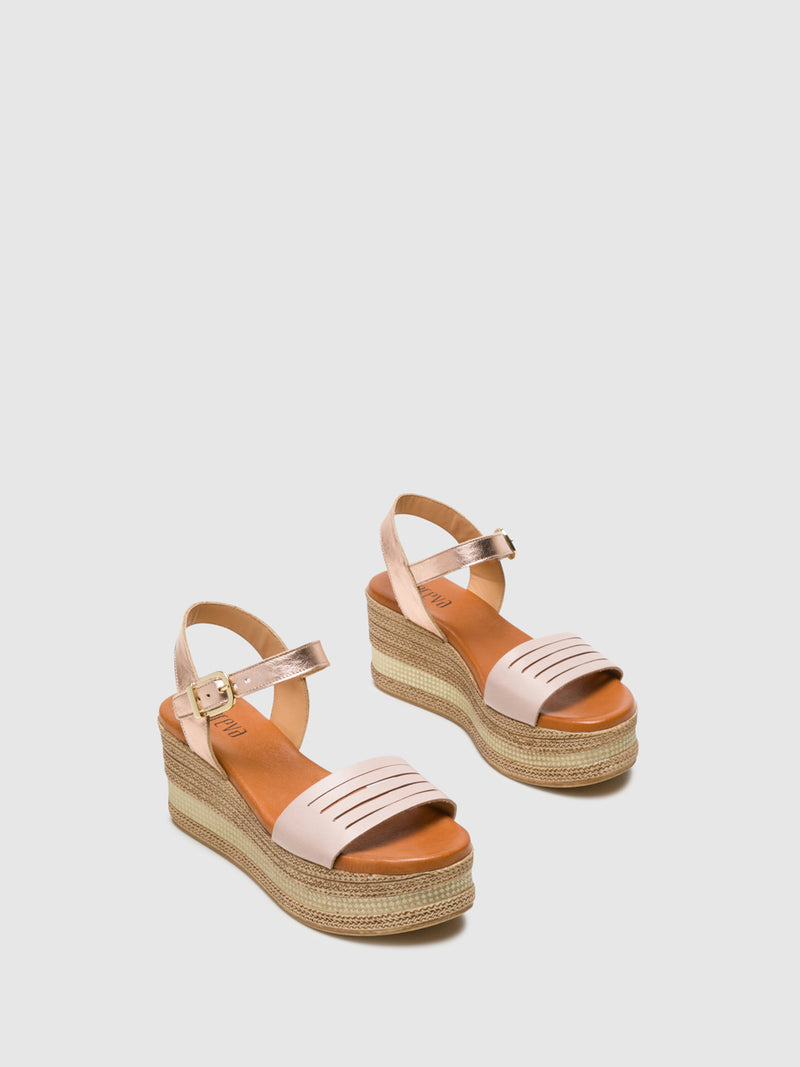 LightPink Buckle Sandals