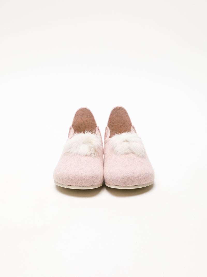 Foreva Pink Fur Slippers