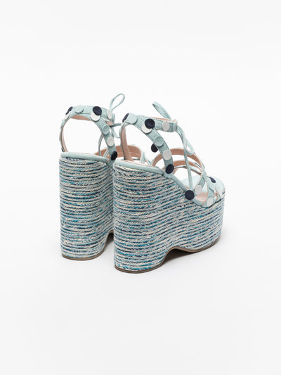 Foreva Blue Strappy Sandals