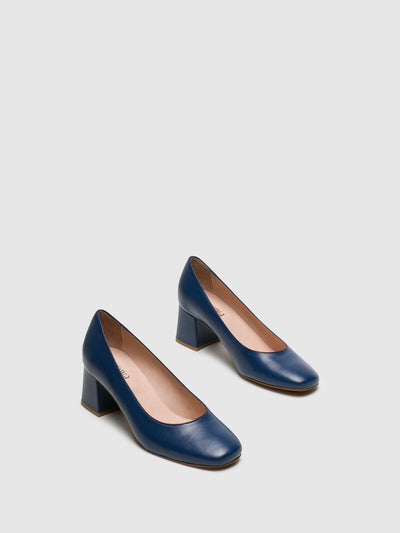 Foreva Blue Square Toe Pumps Shoes