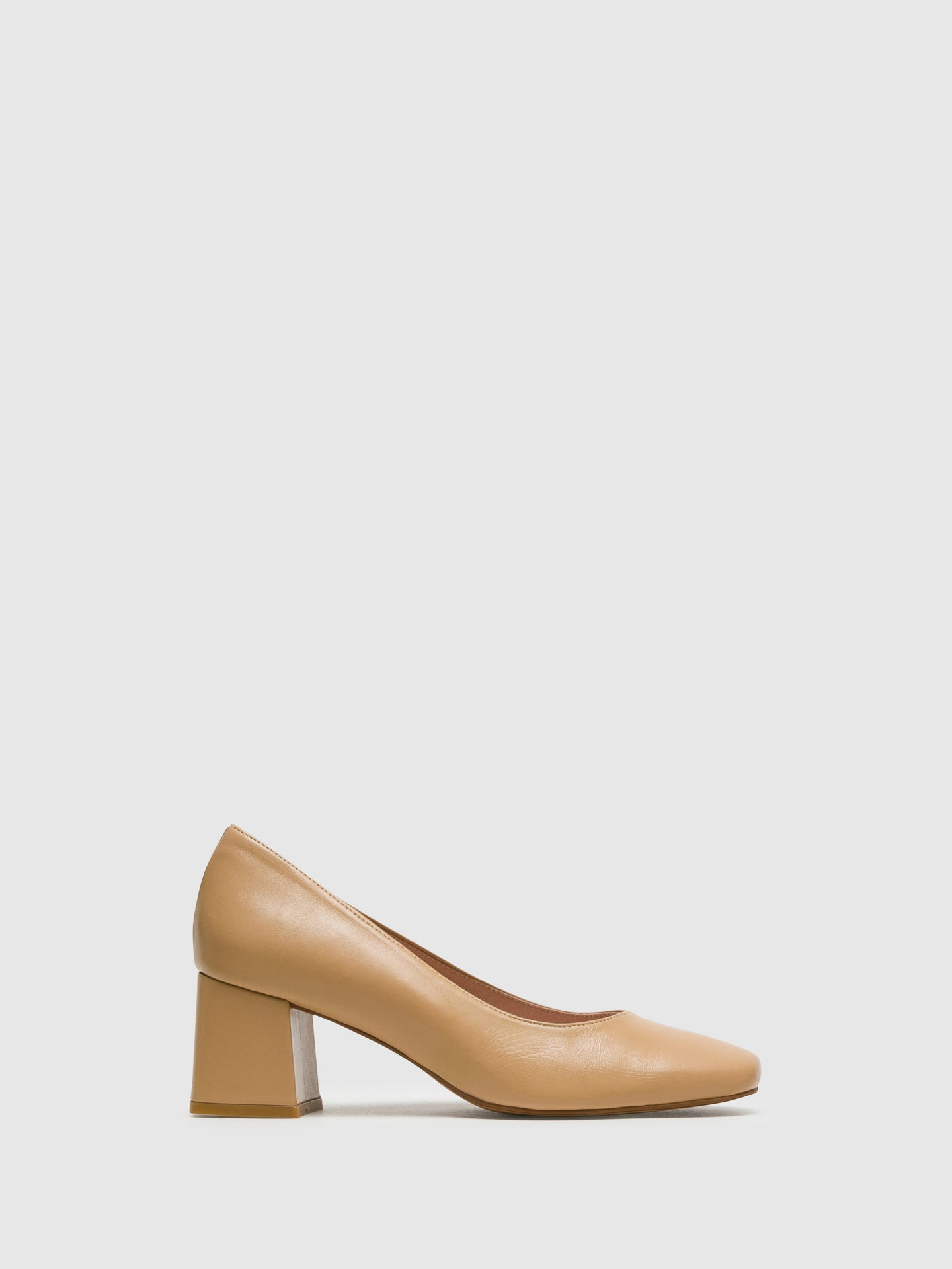 Foreva Beige Square Toe Pumps Shoes