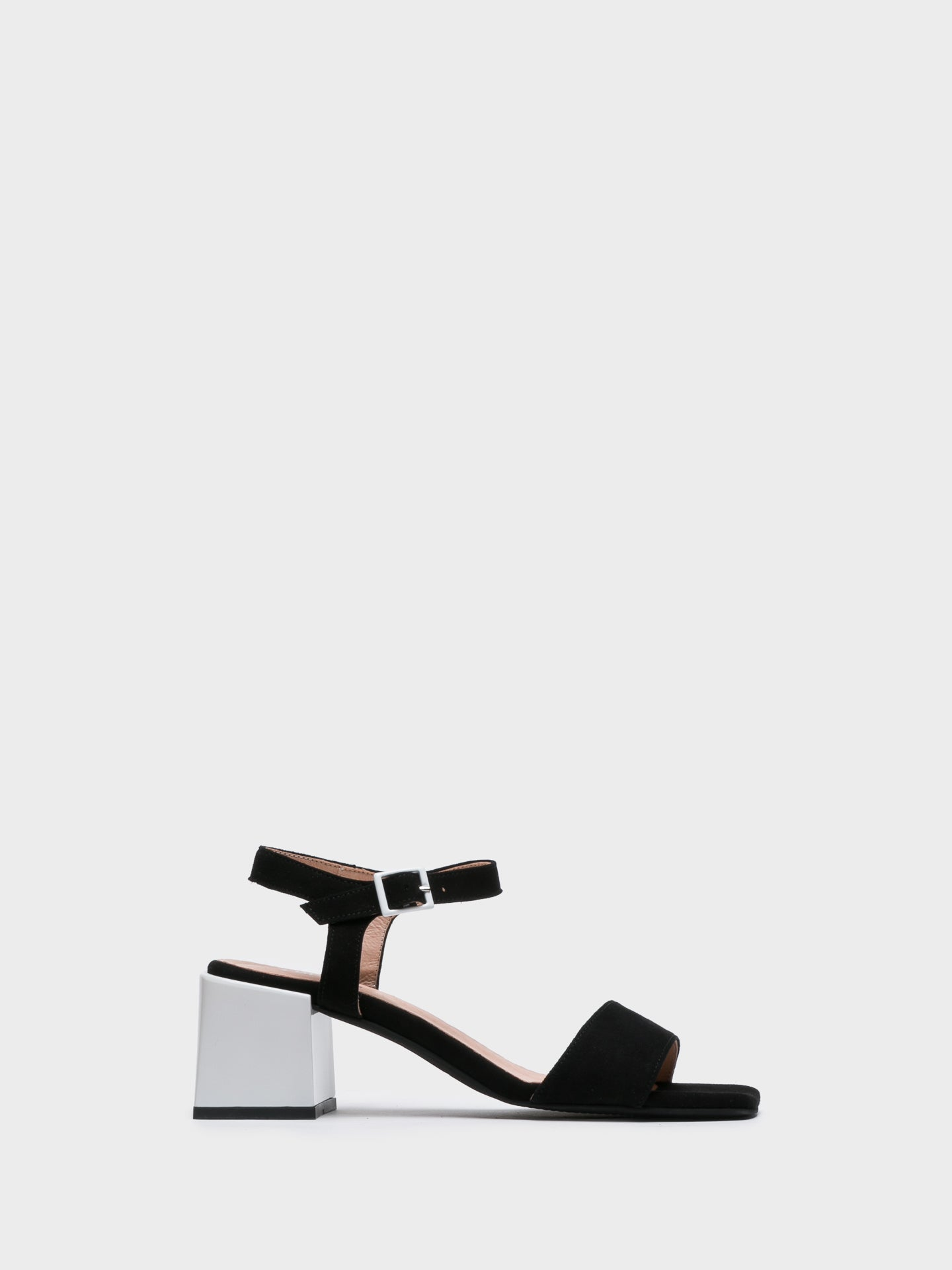 Foreva Black Chunky Heel Sandals
