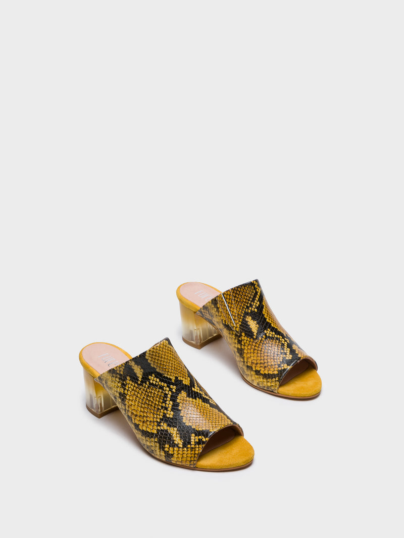 Foreva Yellow Open Toe Mules