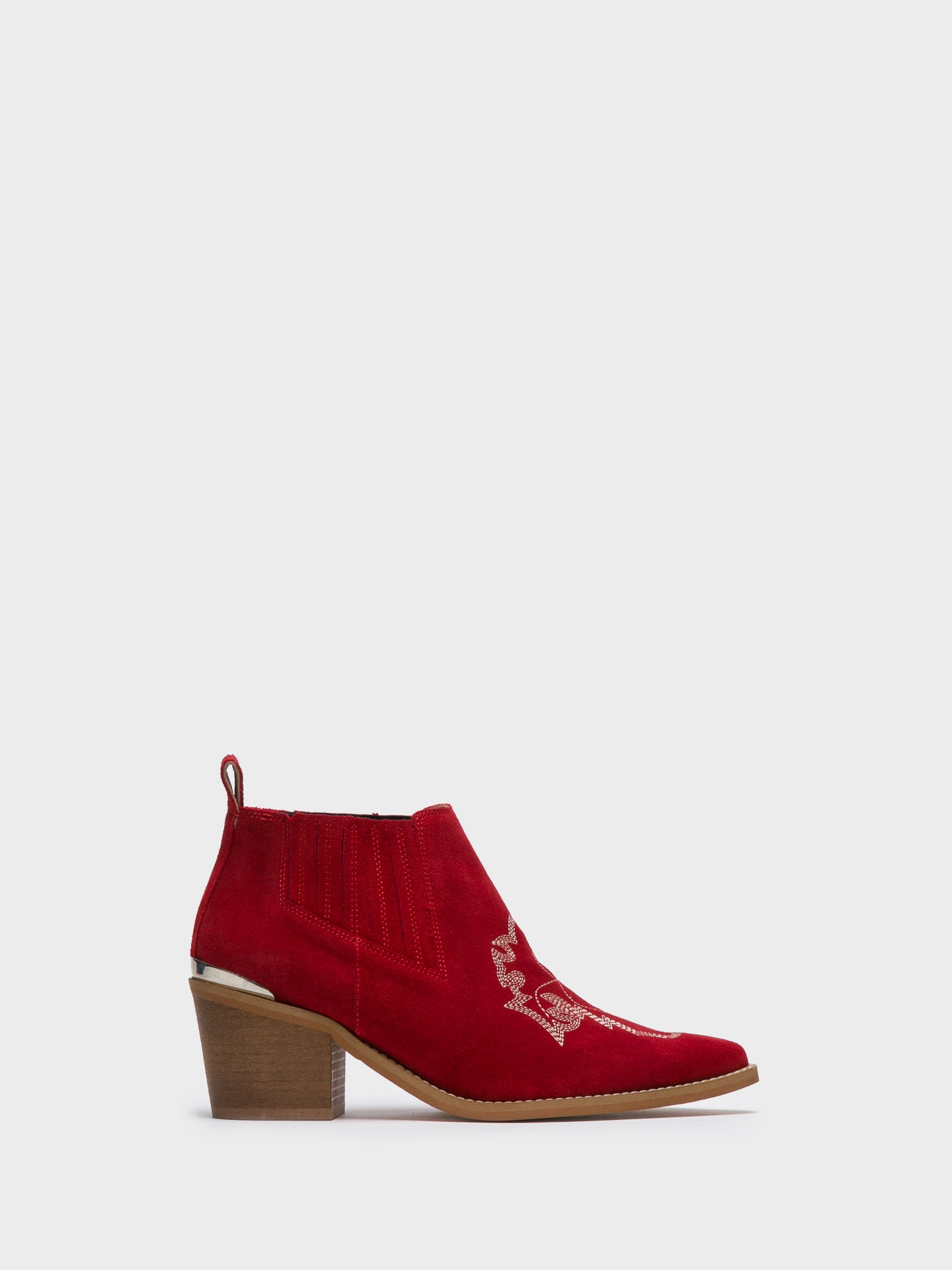 Foreva Red Cowboy Ankle Boots