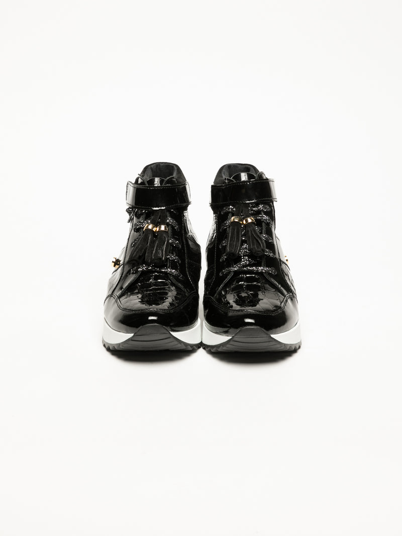 Foreva Black Hi-Top Trainers