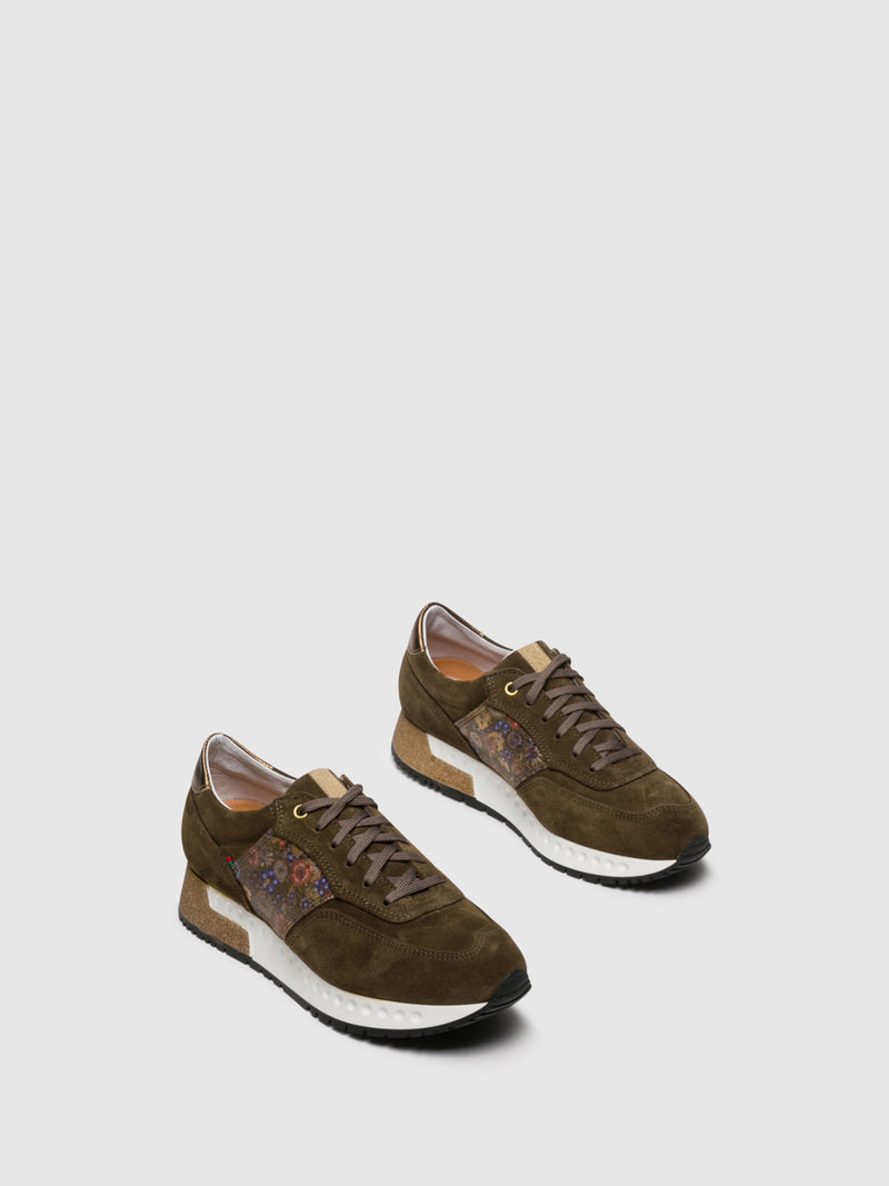 Olive Lace-up Trainers
