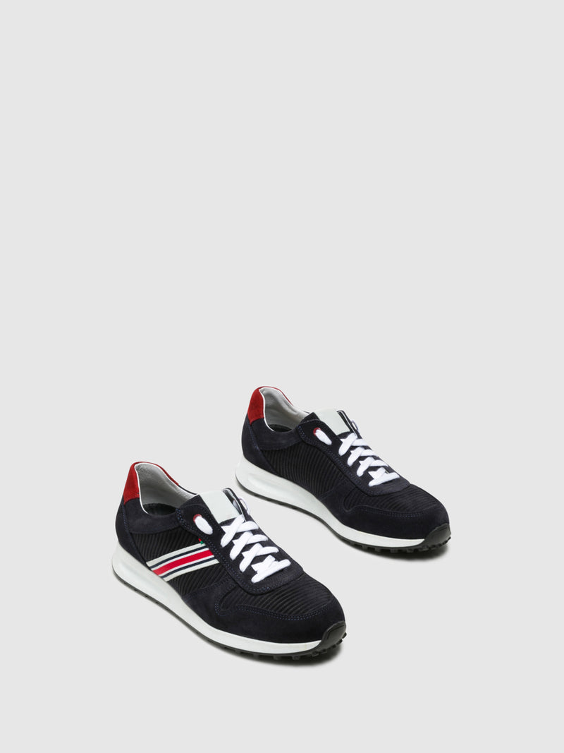 Foreva Navy Lace-up Trainers