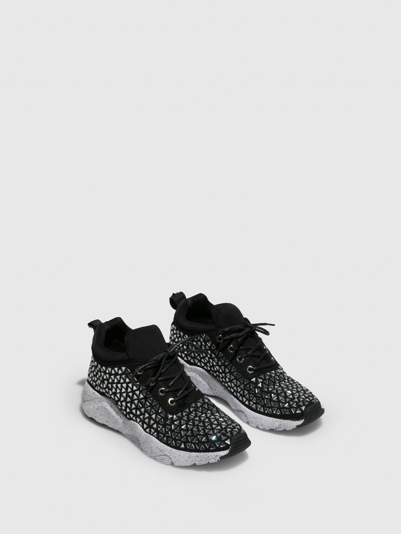 Black Appliqués Trainers