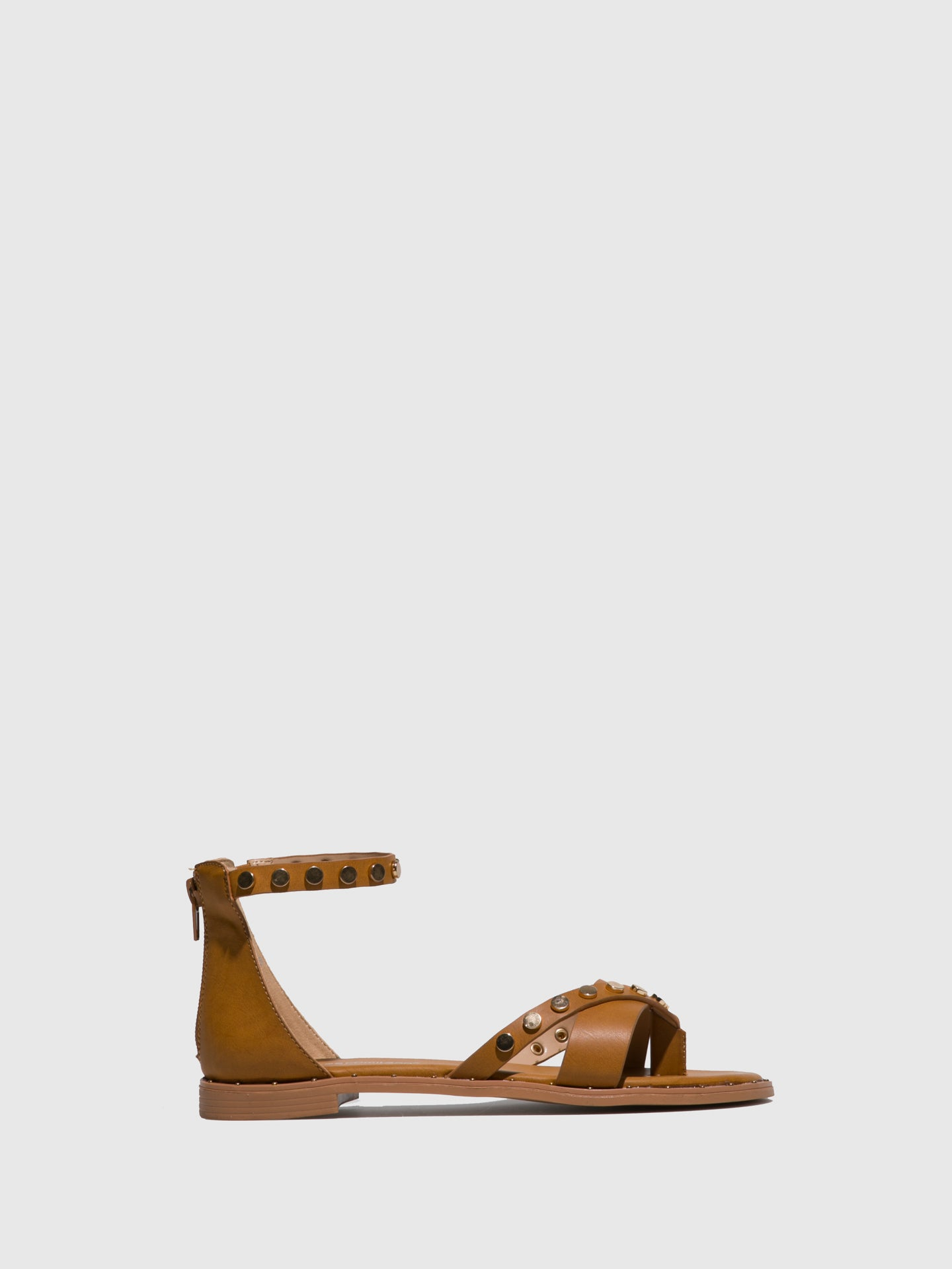 FRANCESCO MILANO Brown Ankle Strap Sandals