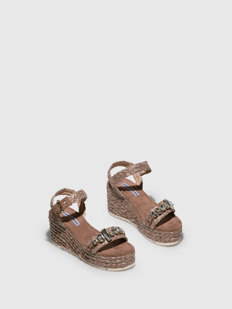 FRANCESCO MILANO Brown Wedge Sandals