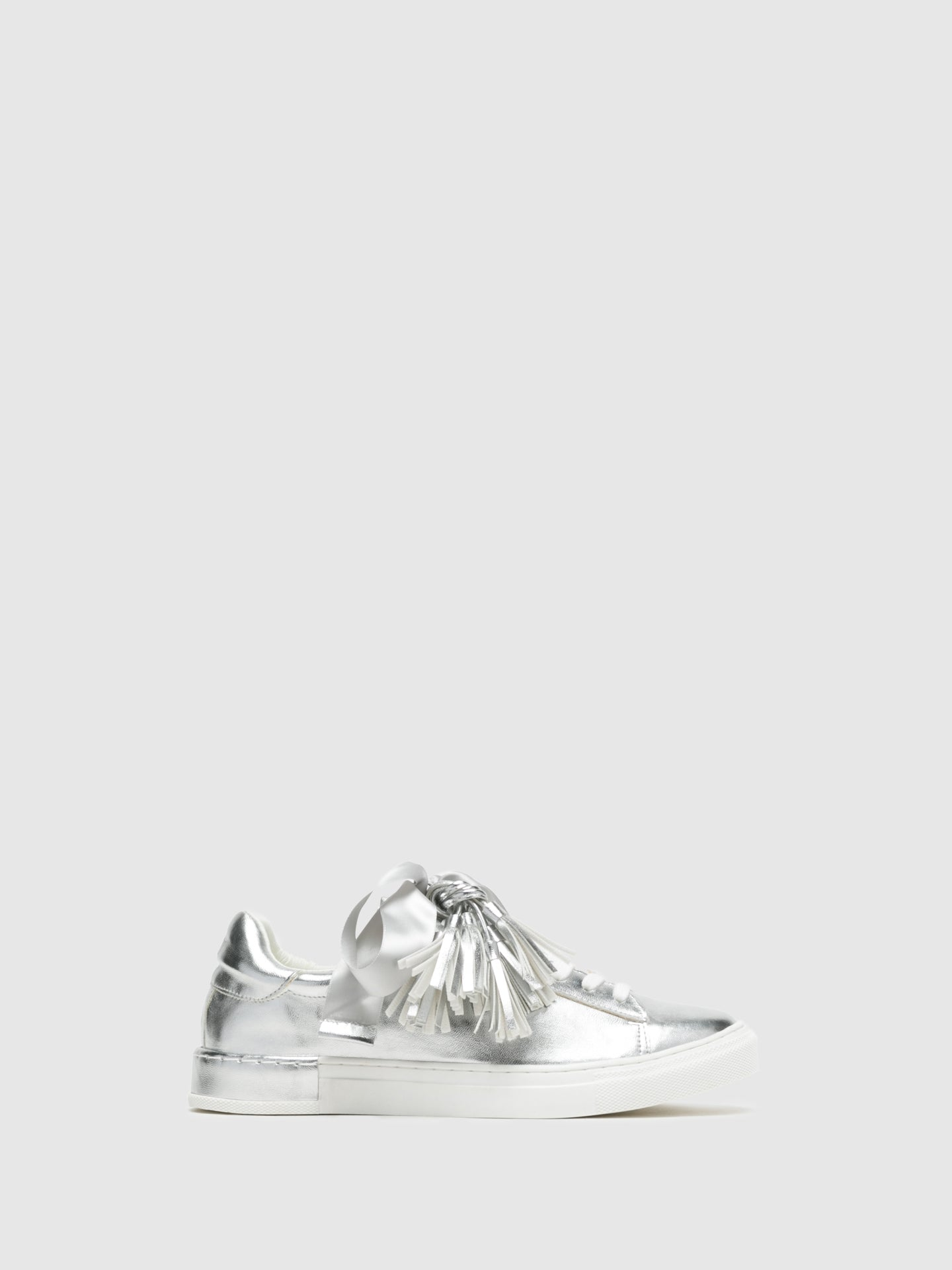 Francesco Milano Silver Lace-up Trainers