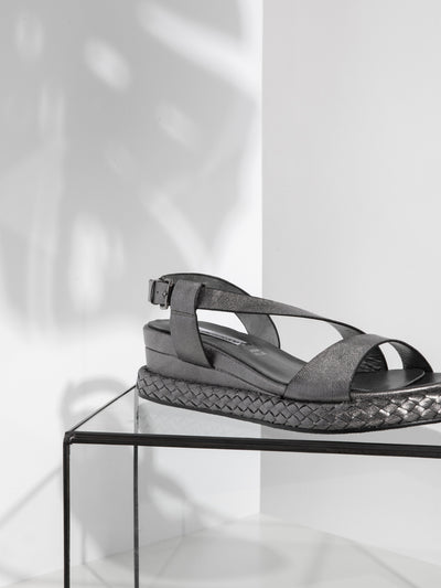 FRANCESCO MILANO Silver Buckle Sandals