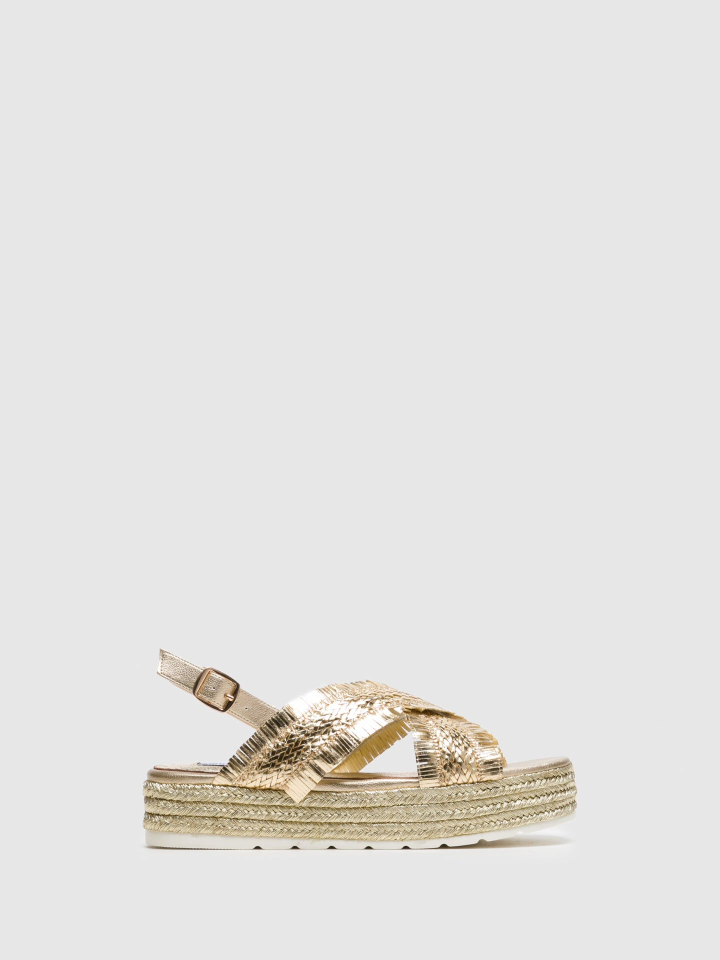 Francesco Milano Gold Buckle Sandals