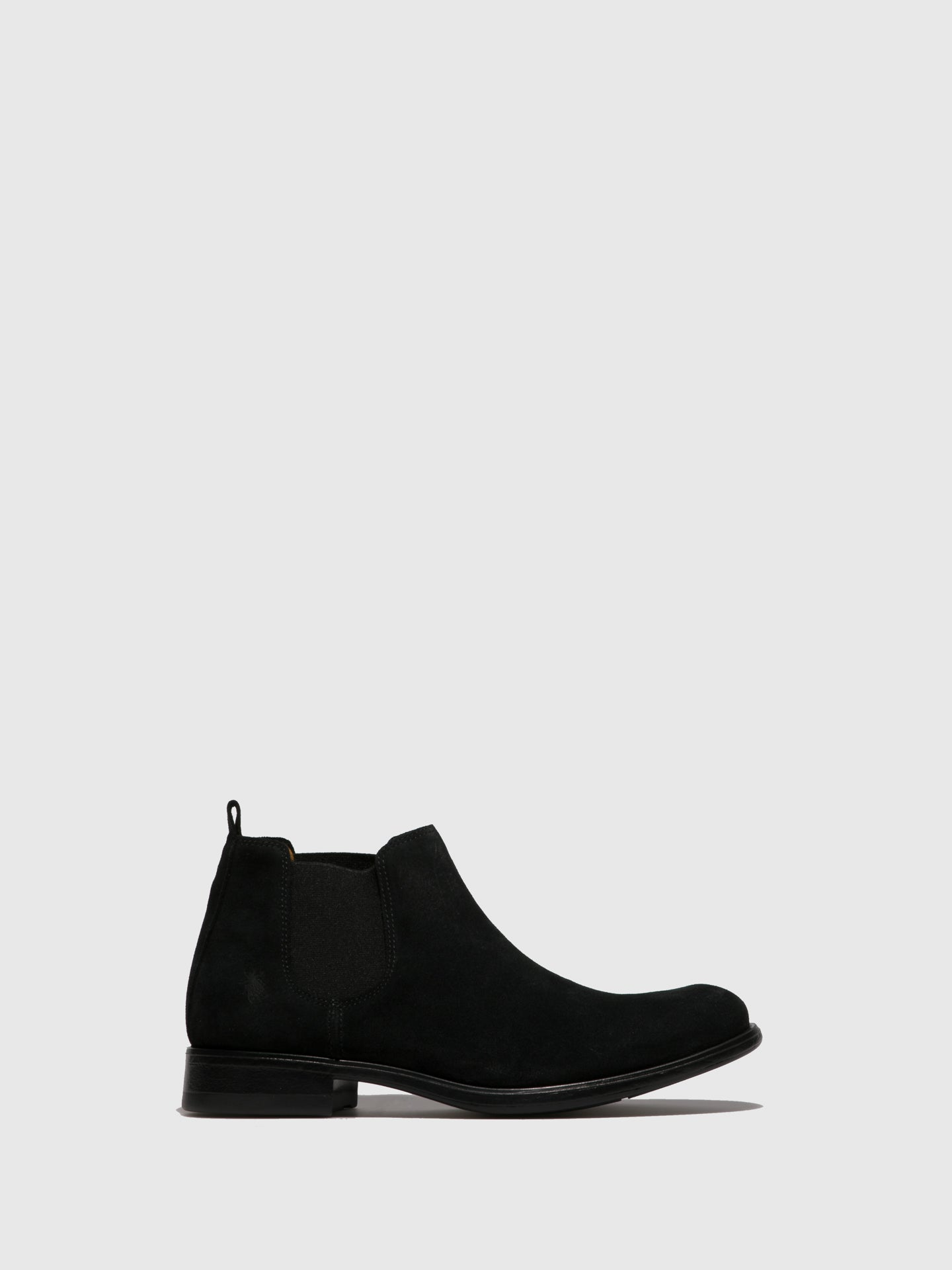 Fly London Black Suede Chelsea Ankle Boots