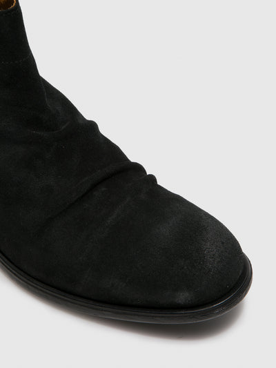 Fly London Black Suede Fringed Ankle Boots