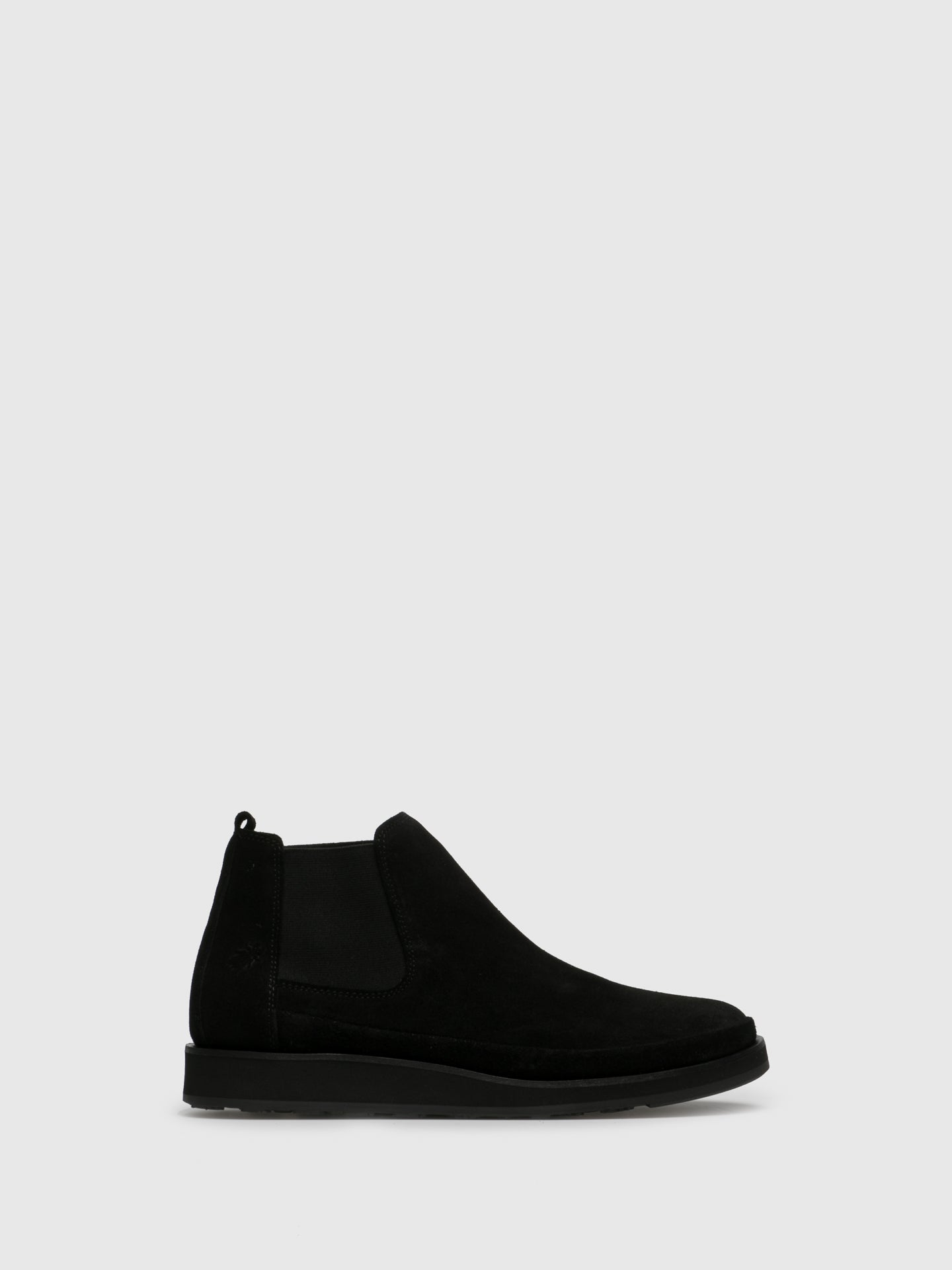 Fly London Black Leather Chelsea Ankle Boots