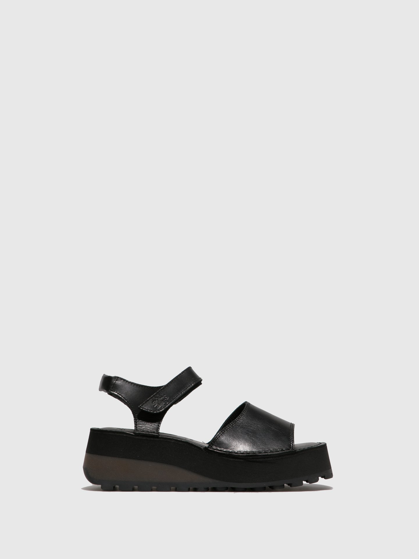 Fly London Velcro Sandals HOST483FLY BLACK