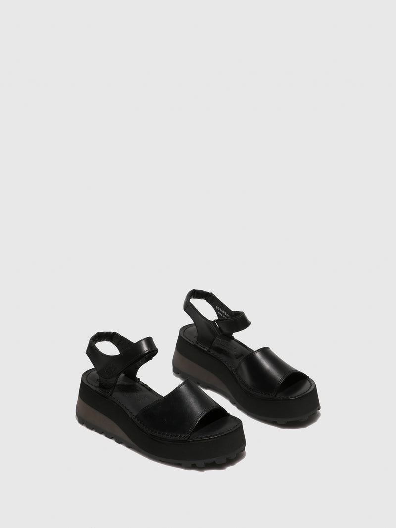 Velcro Sandals HOST483FLY BLACK
