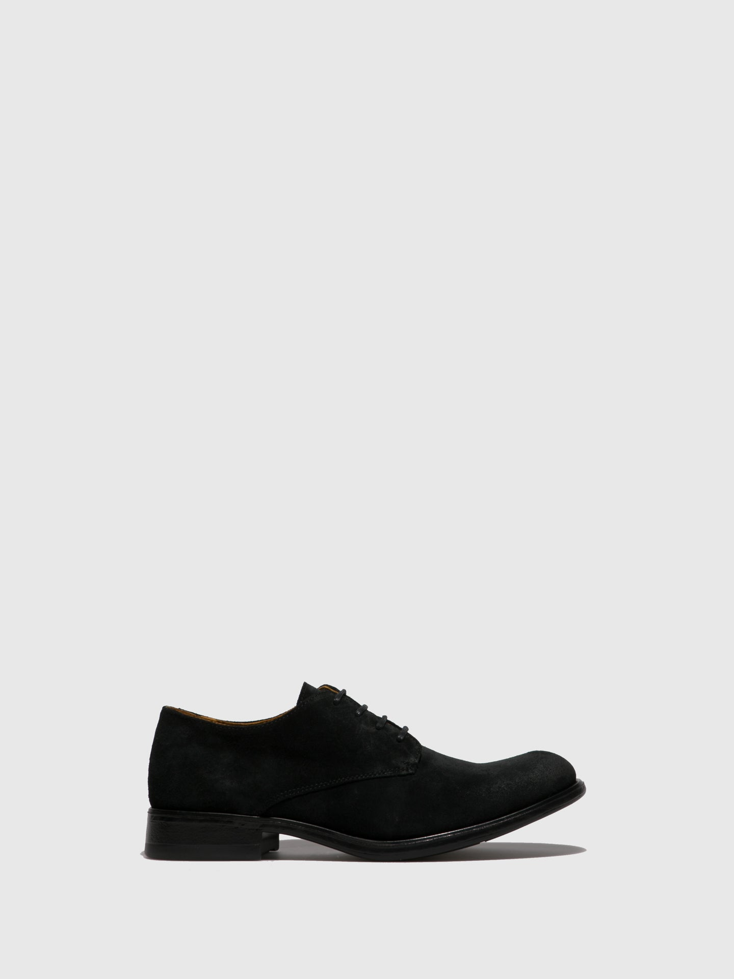 Fly London Black Suede Lace-up Shoes
