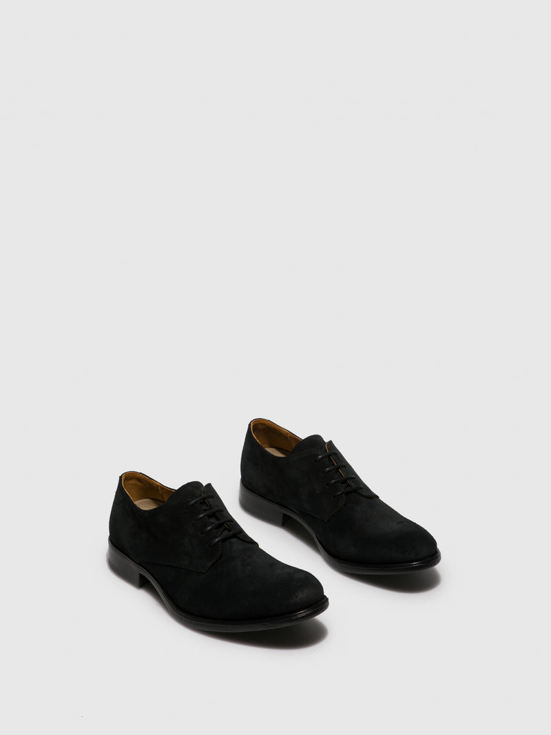 Black Suede Lace-up Shoes