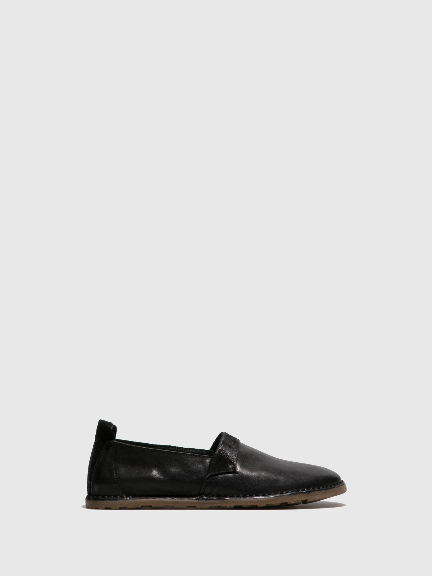 Fly London Black Slip-on Shoes