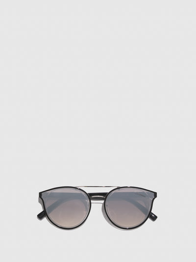 Fly London Black Clubmaster Style Sunglasses