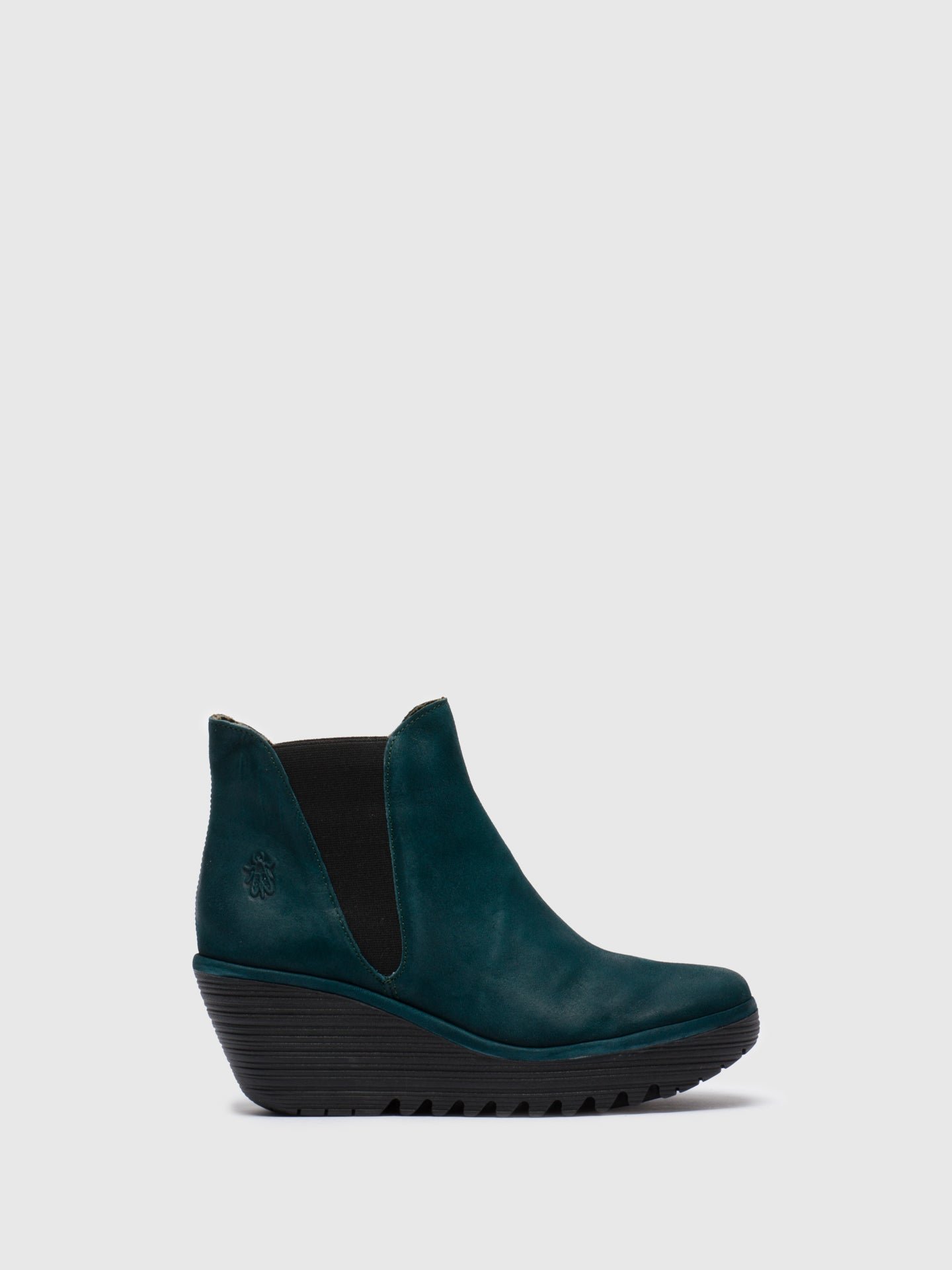 Fly London DarkCyan Chelsea Ankle Boots