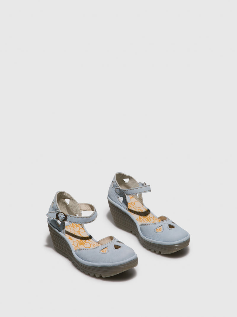 SkyBlue Wedge Sandals