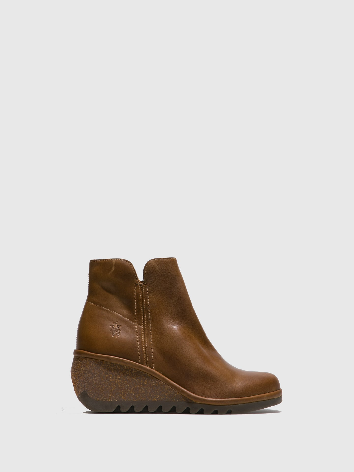 Fly London Camel Wedge Ankle Boots