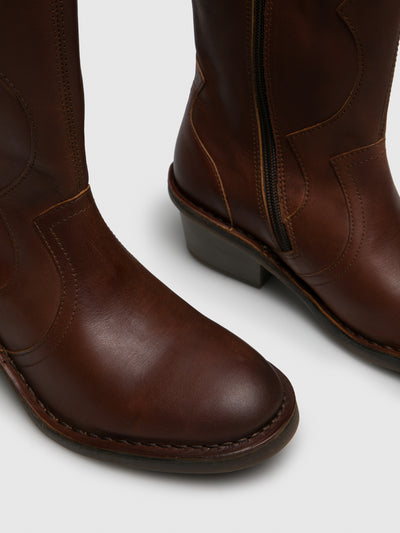 Fly London Chocolate Cowboy Boots