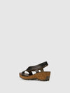 Fly London SandyBrown Wedge Sandals