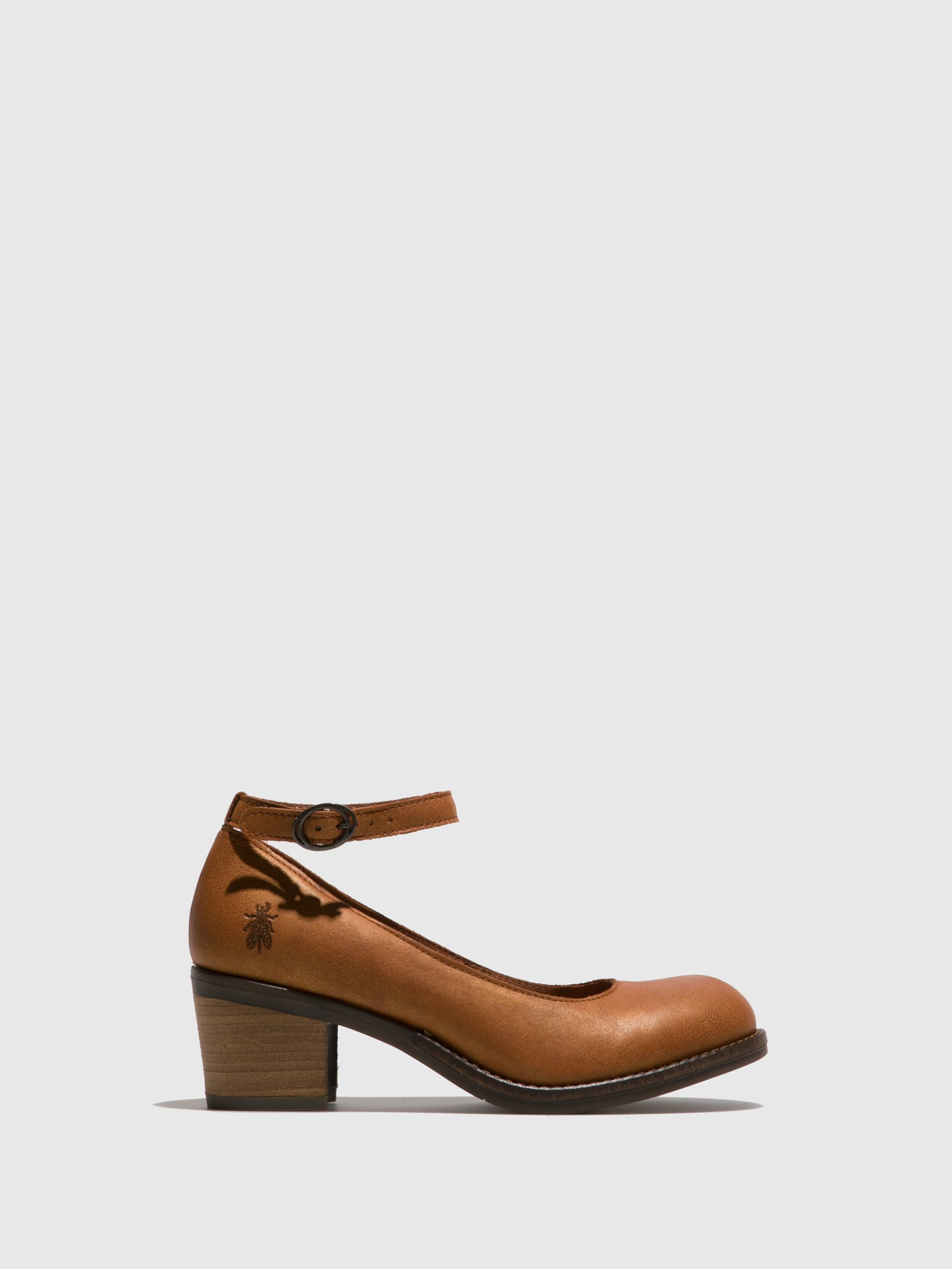 Fly London Brown Ankle Strap Shoes