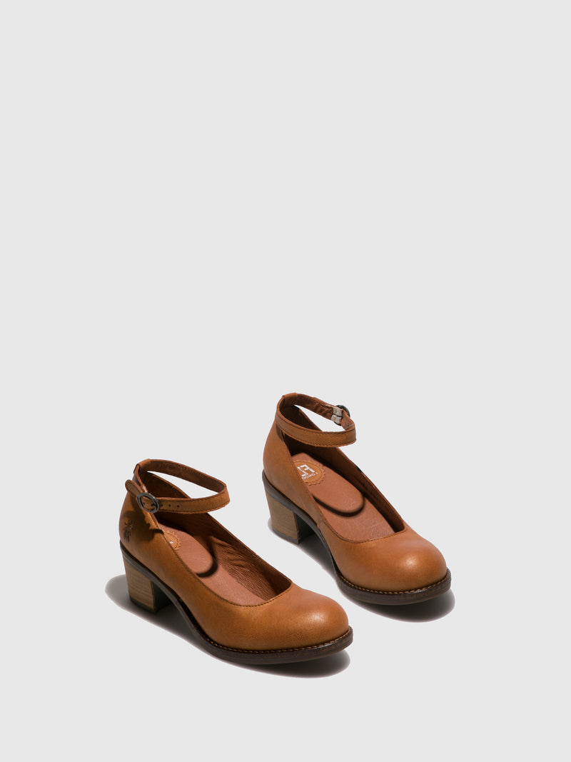 Brown Ankle Strap Shoes