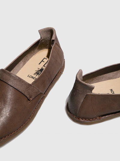 Fly London Brown Slip-on Shoes