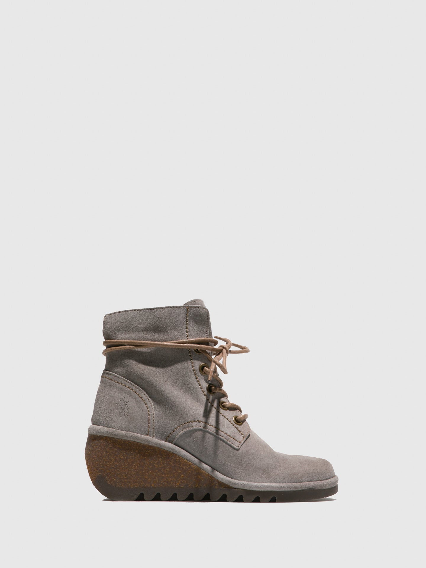 Fly London LightGray Lace-up Ankle Boots