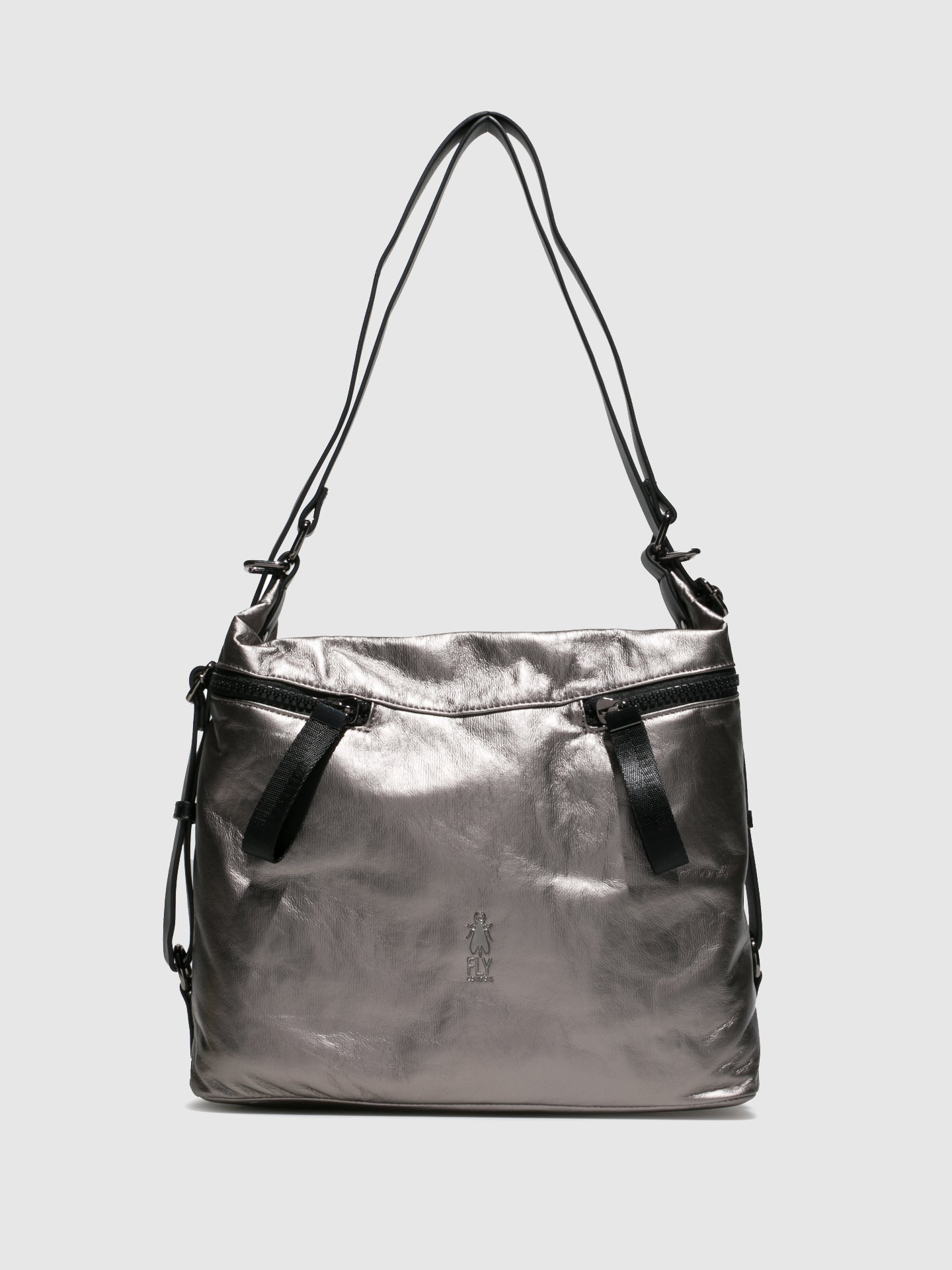 Fly London Shoulder Bags ARYA706FLY ATWOOD DK SILVER